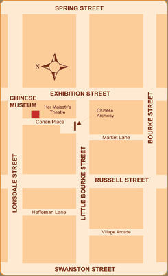 Map of Chinese Museum, Melbourne